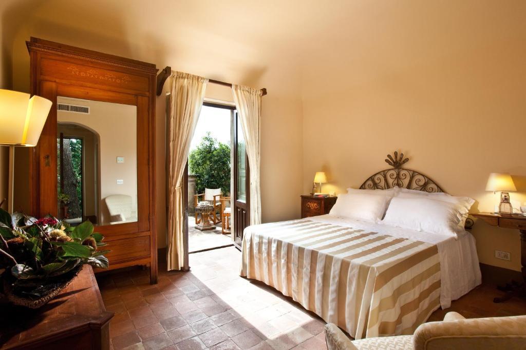 Letto o letti in una camera di Casa la Carrubbazza