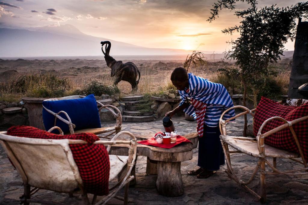 Gäste, die in der Unterkunft Original Maasai Lodge – Africa Amini Life übernachten