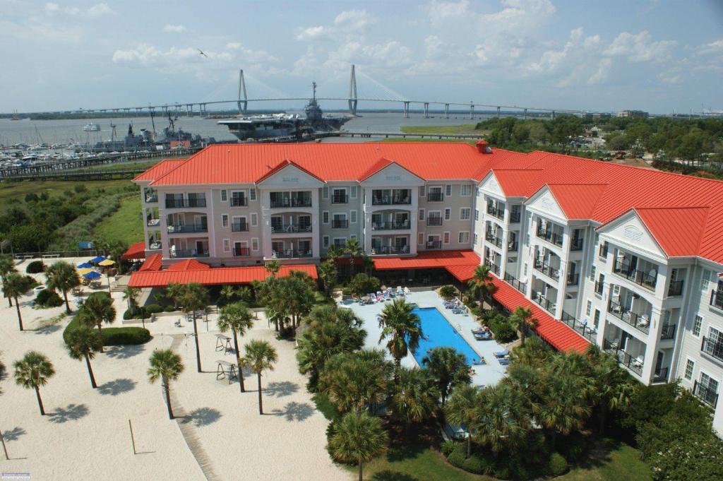 A bird's-eye view of Harborside at Charleston Harbor Resort and Marina