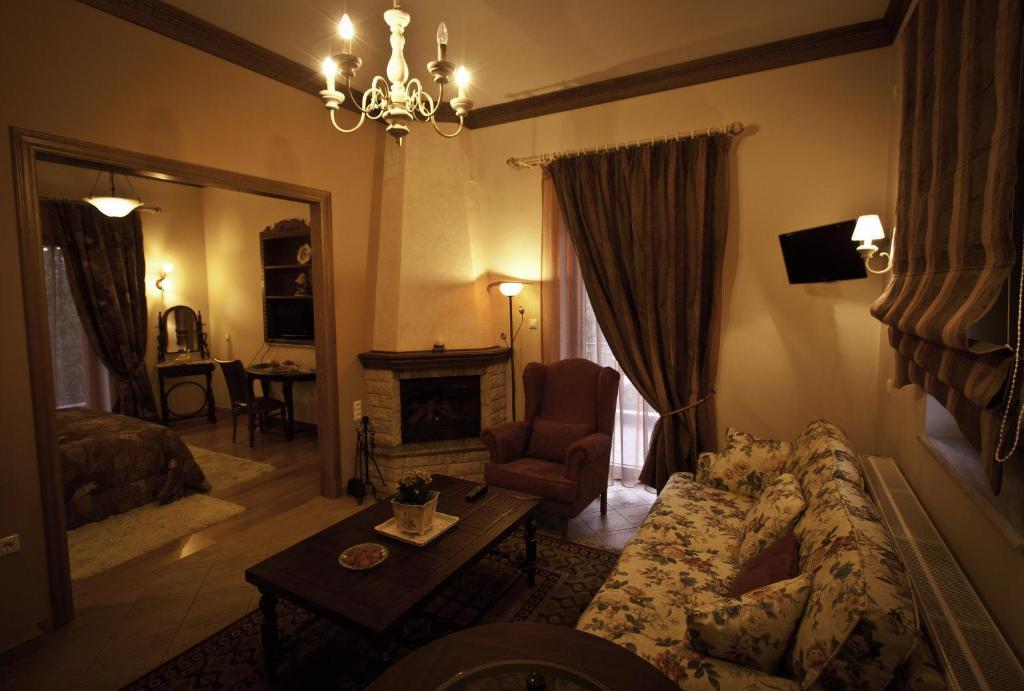 Χώρος καθιστικού στο Margit Suites Hotel