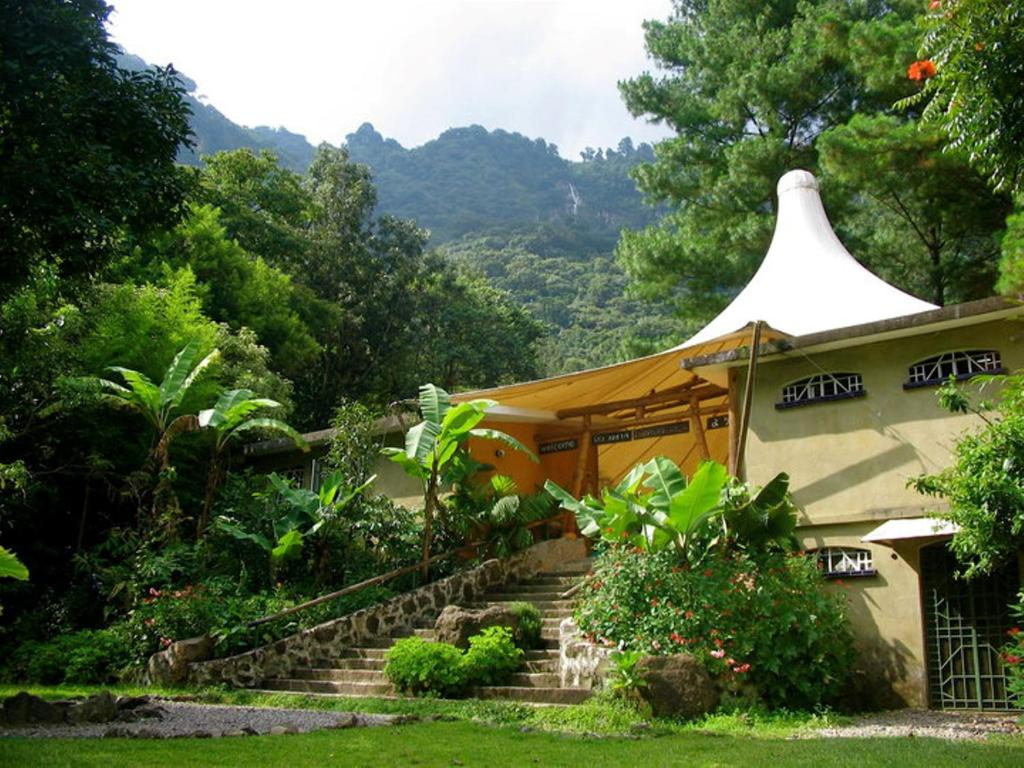 A garden outside Reserva Natural Atitlan