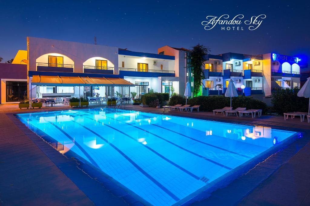 The swimming pool at or near Afandou Sky Hotel