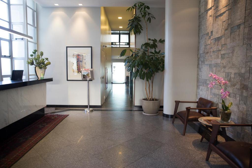 The lobby or reception area at Via Contorno Hotel