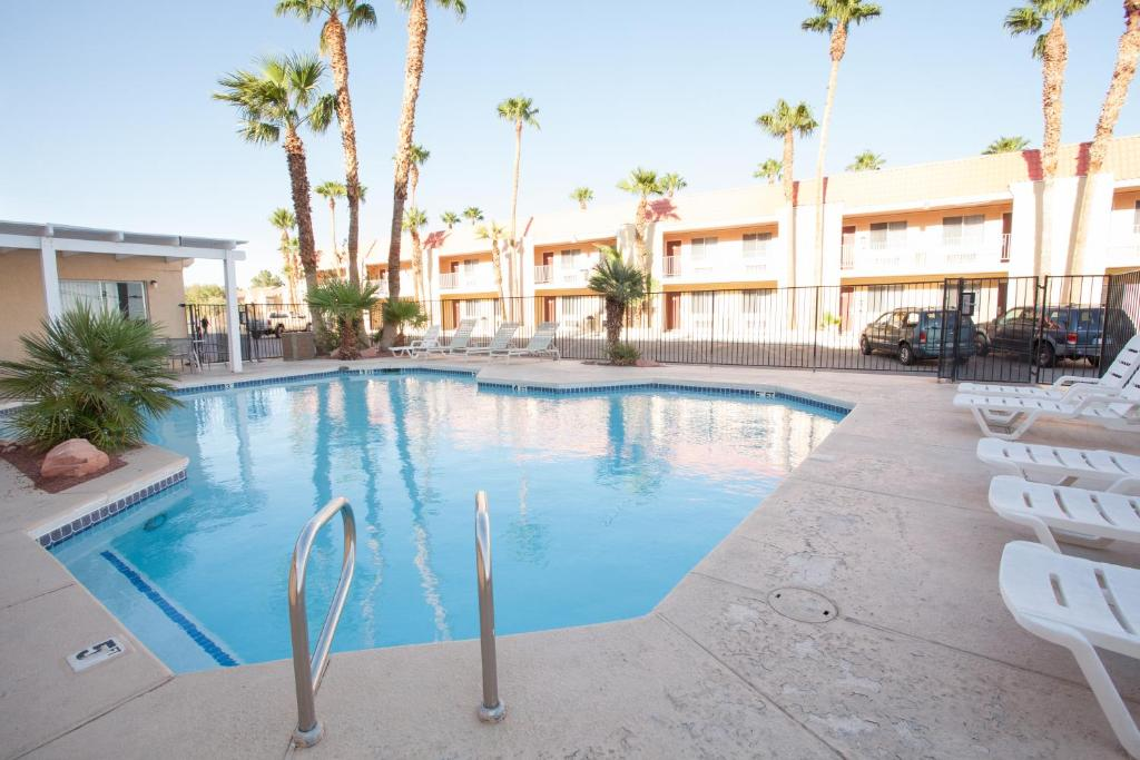 The swimming pool at or near Aviation Inn