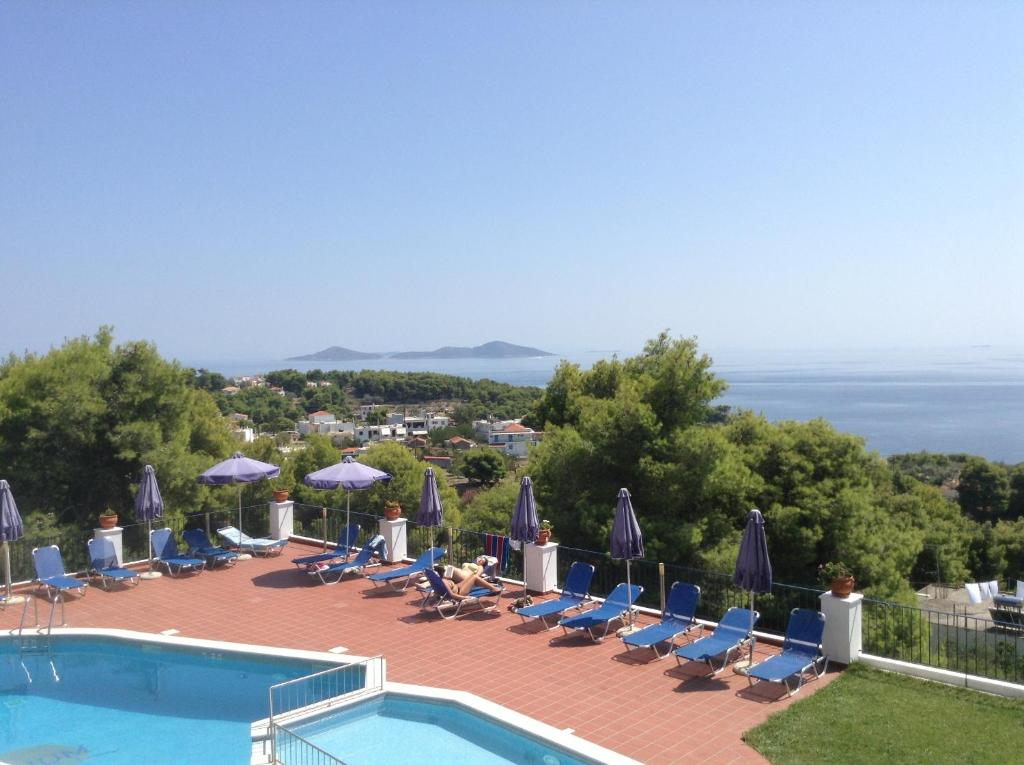 A view of the pool at Atrium of Alonissos or nearby