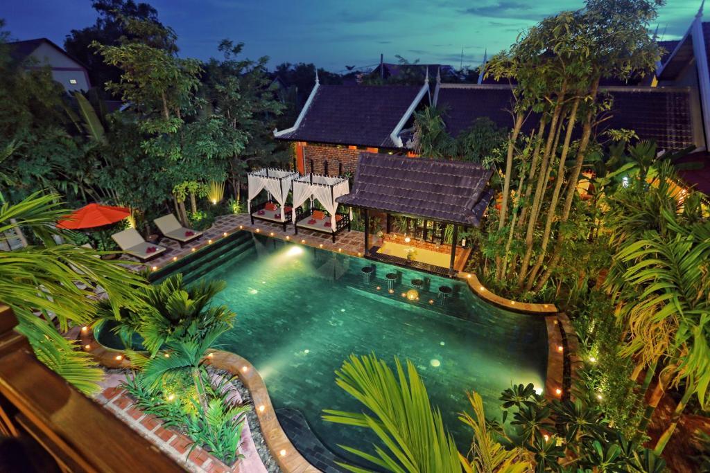 A bird's-eye view of Villa Indochine D'angkor