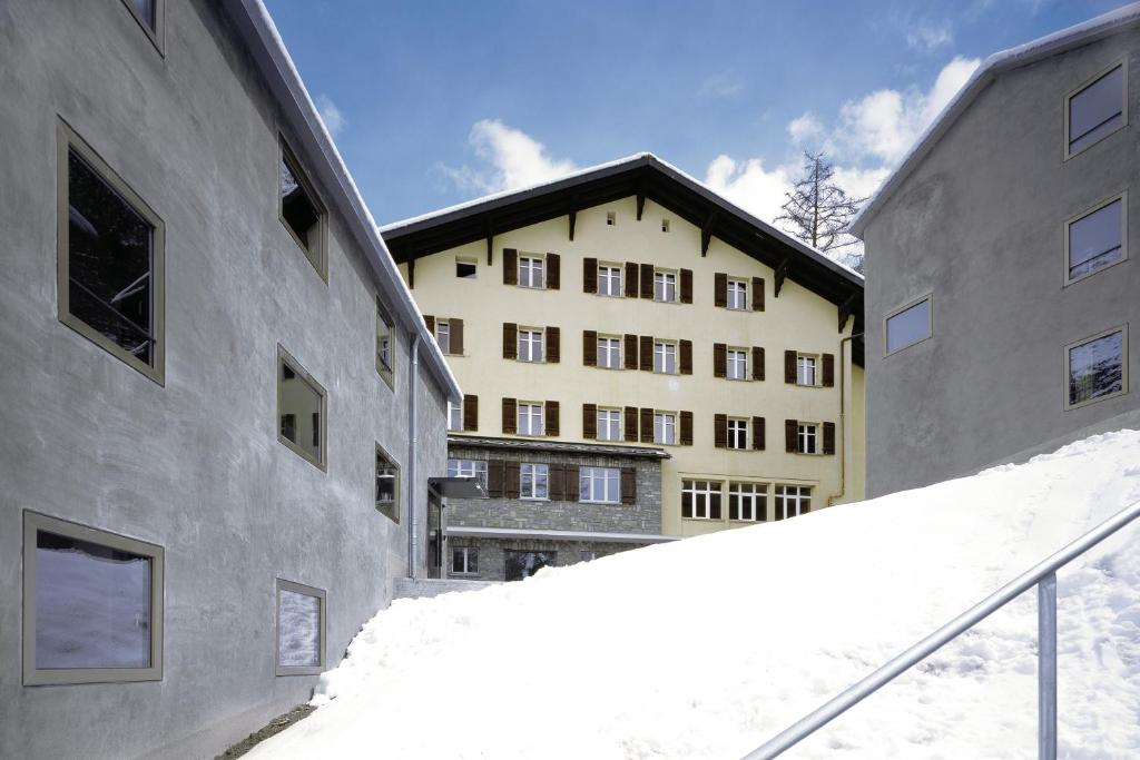 Zermatt Youth Hostel during the winter