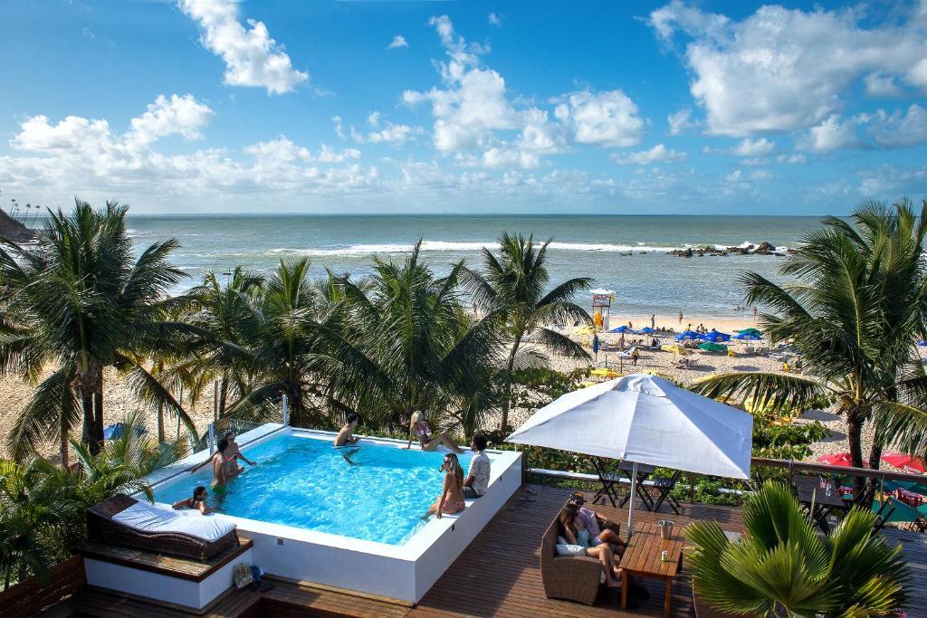 Uma vista da piscina em Pousada Sambass ou nos arredores