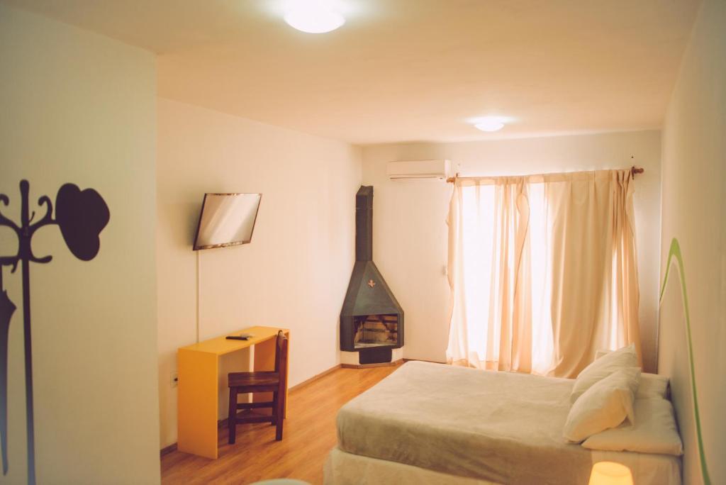 Cama o camas de una habitación en Che Lagarto Hostel Montevideo
