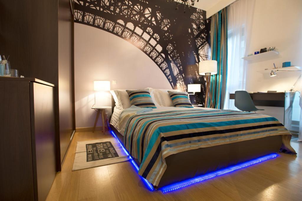 Un ou plusieurs lits dans un hébergement de l'établissement Indigo Bundek