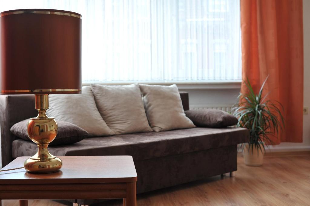 Ein Sitzbereich in der Unterkunft Hotel Dietrich