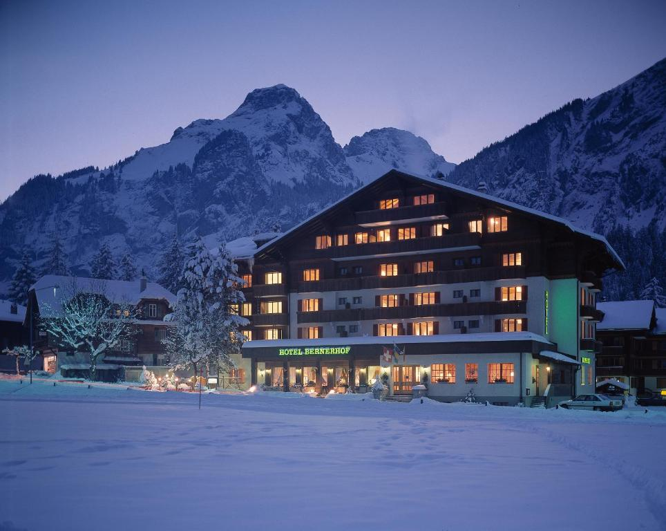 Bernerhof Swiss Quality Hotel during the winter