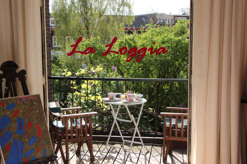 A balcony or terrace at La Loggia