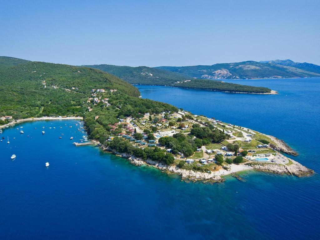 A bird's-eye view of Marina Camping Resort by Valamar