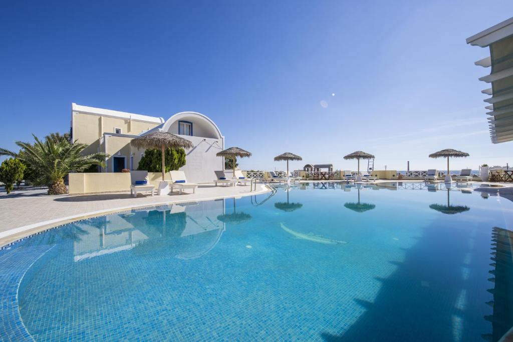 The swimming pool at or near Bella Santorini