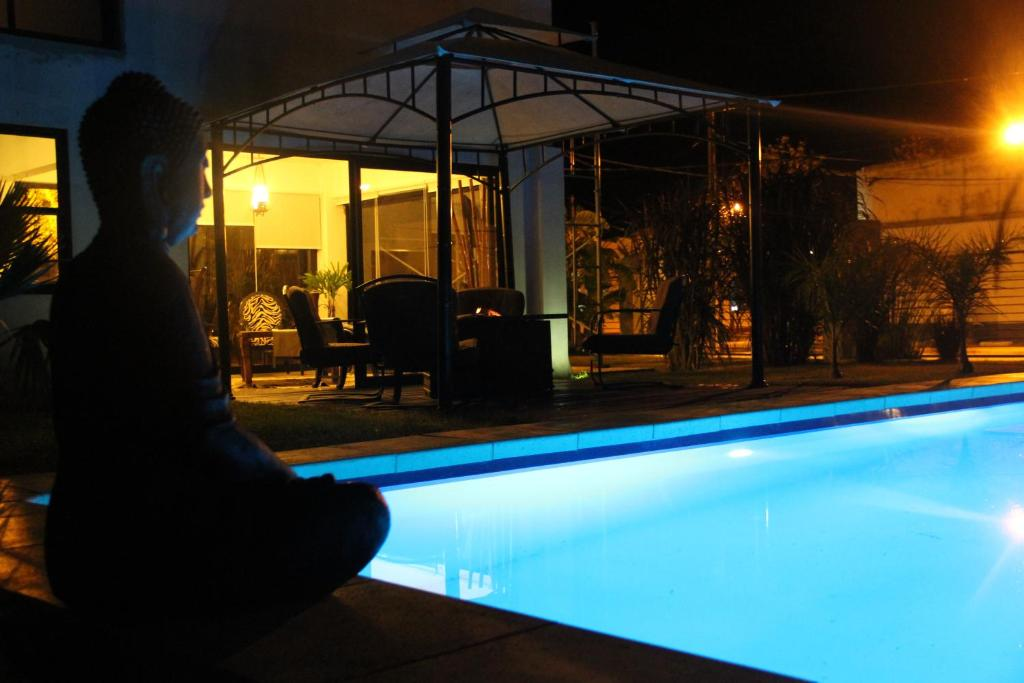 The swimming pool at or near Bali Hotel Boutique