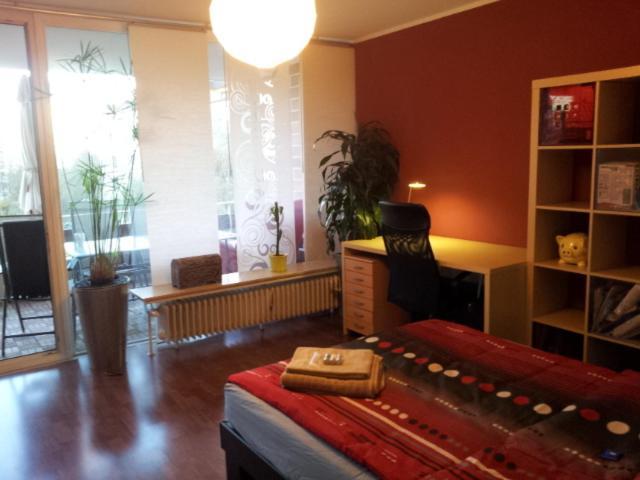 Ein Sitzbereich in der Unterkunft Apartment an der Messe Augsburg