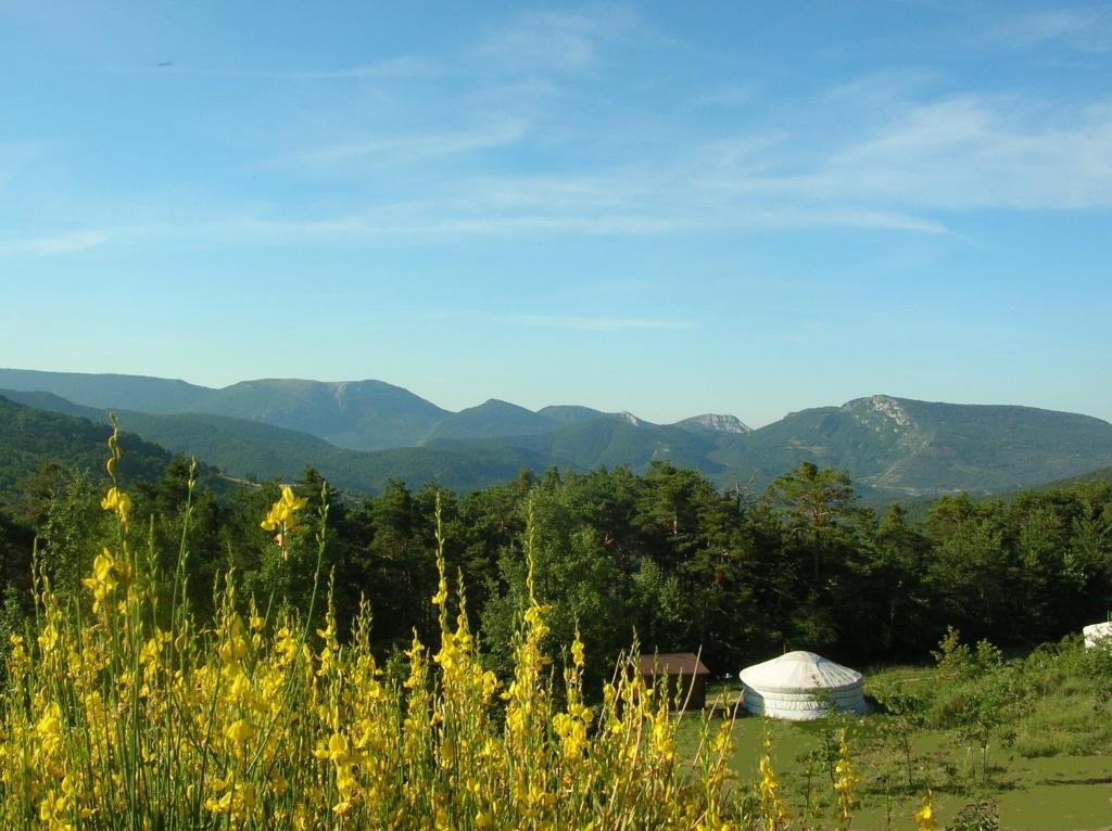 Vue générale sur la montagne ou vue sur la montagne depuis le lodge