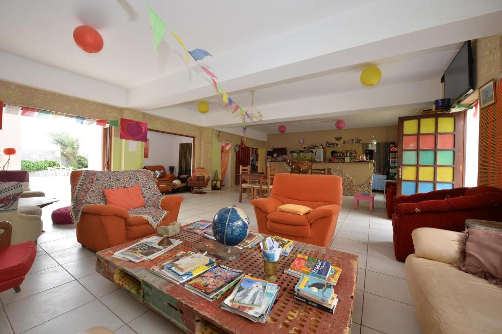 The lobby or reception area at La Boaventura Guest House