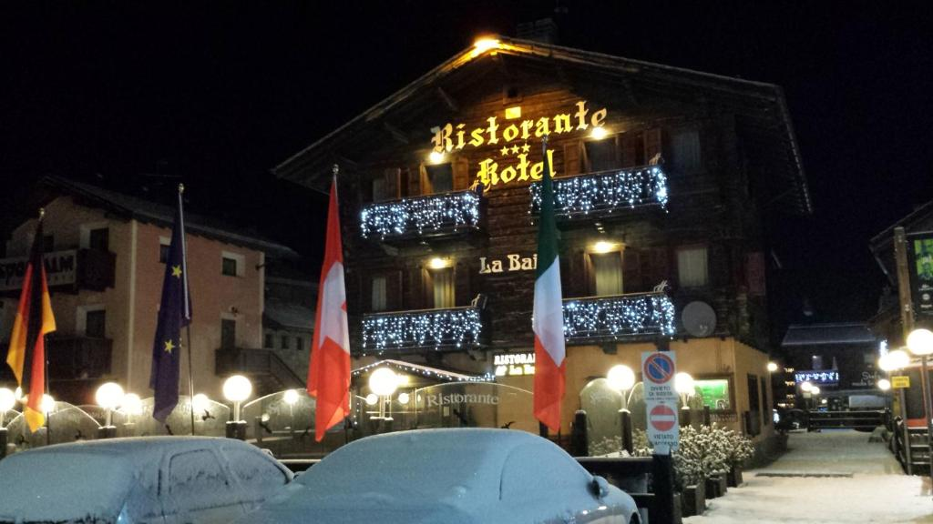 Hotel La Baita durante l'inverno