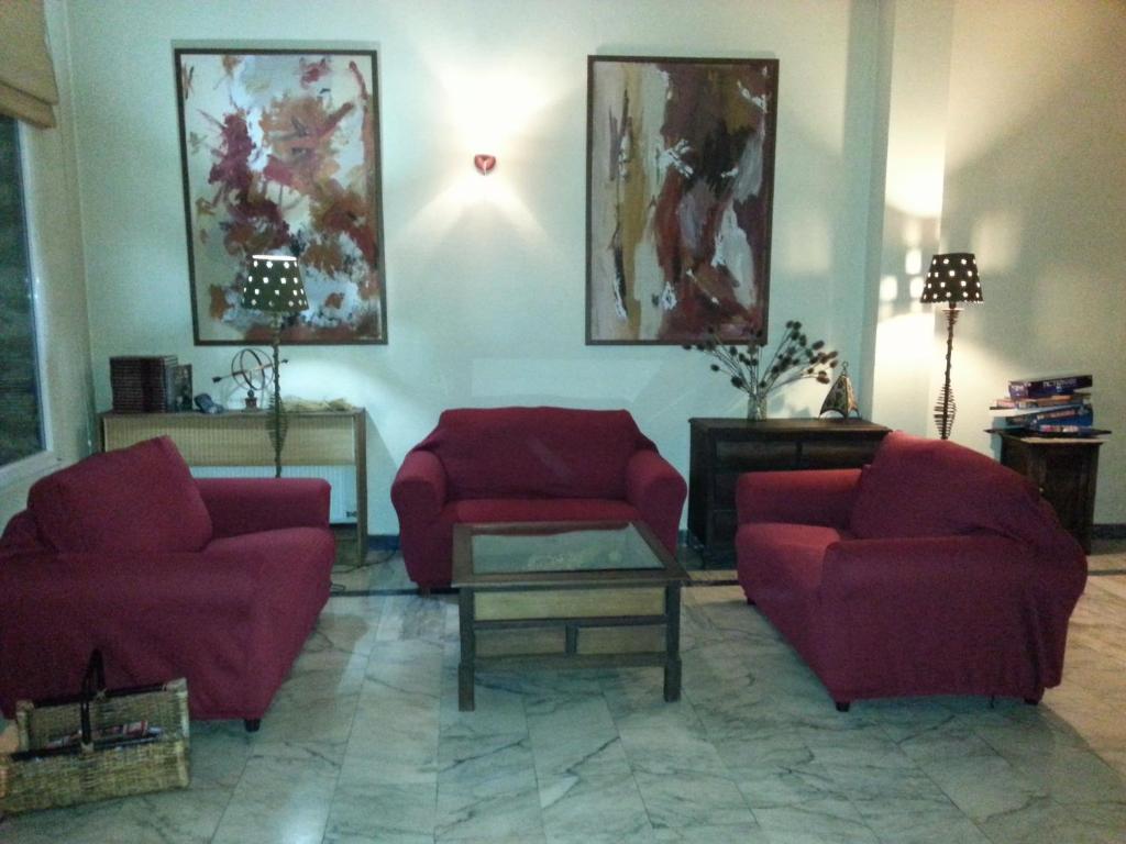 Zona de estar de Hotel La Brañina