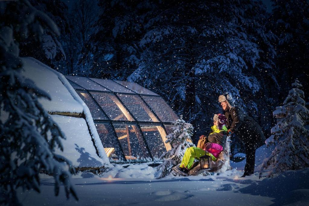 Lapland Igloo talvella