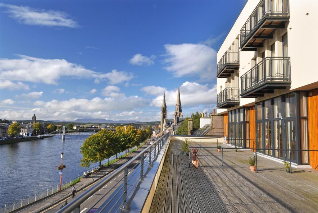 Ein Balkon oder eine Terrasse in der Unterkunft Highland Apartments by Mansley