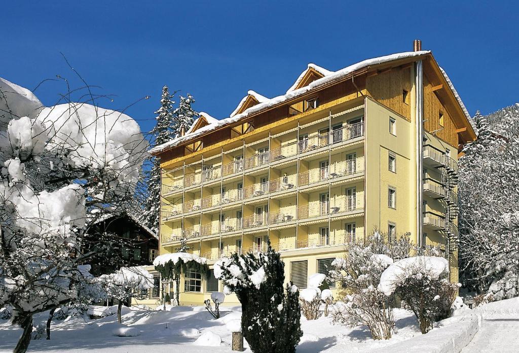 Hotel Wengener Hof during the winter