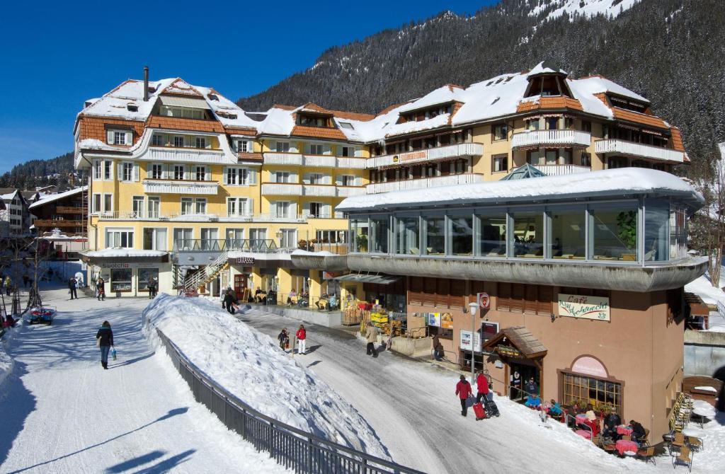 Hotel Silberhorn Wengen during the winter