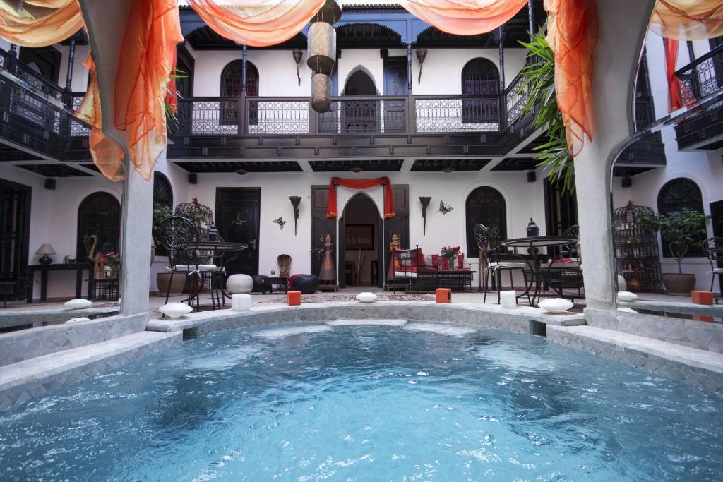 The swimming pool at or near Riad & Spa le Secret de Zoraida