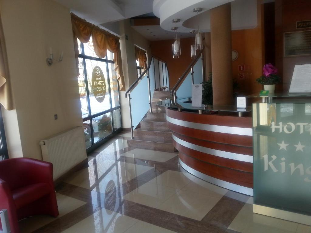 The lobby or reception area at Hotel Restauracja Kinga