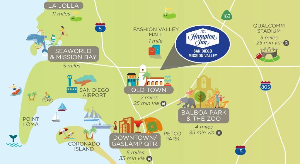 Hampton Inn San Diego Mission Valley Ca Booking Com