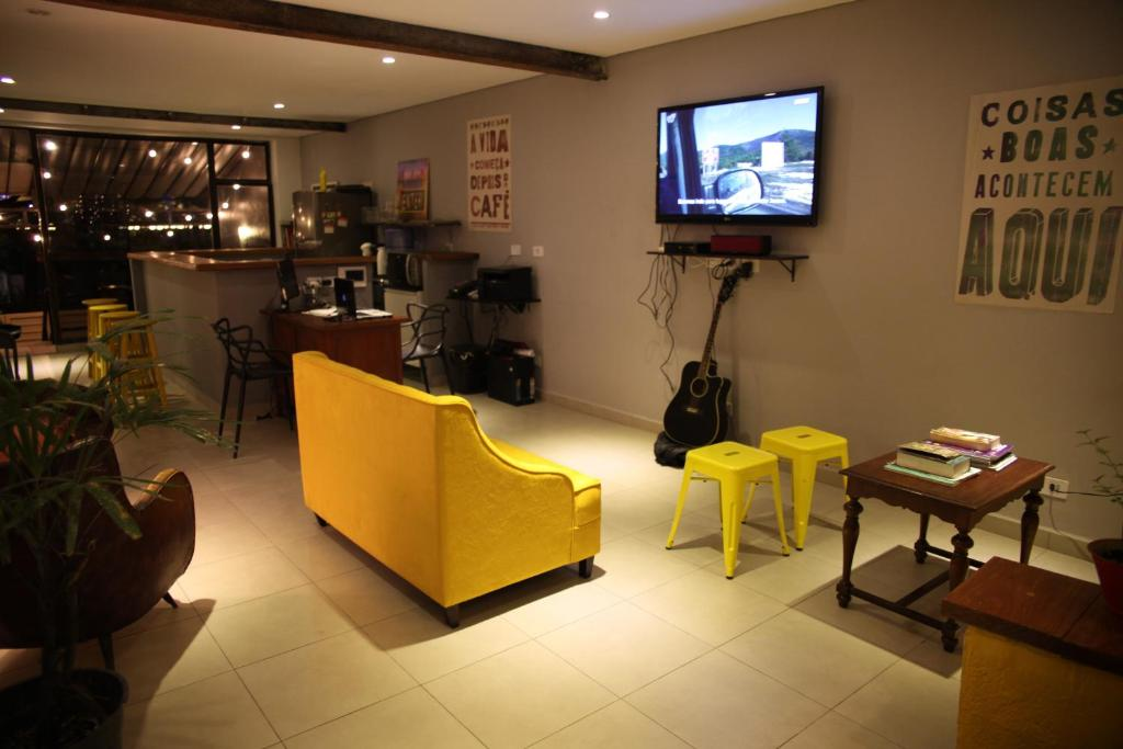 A television and/or entertainment center at Soul Hostel