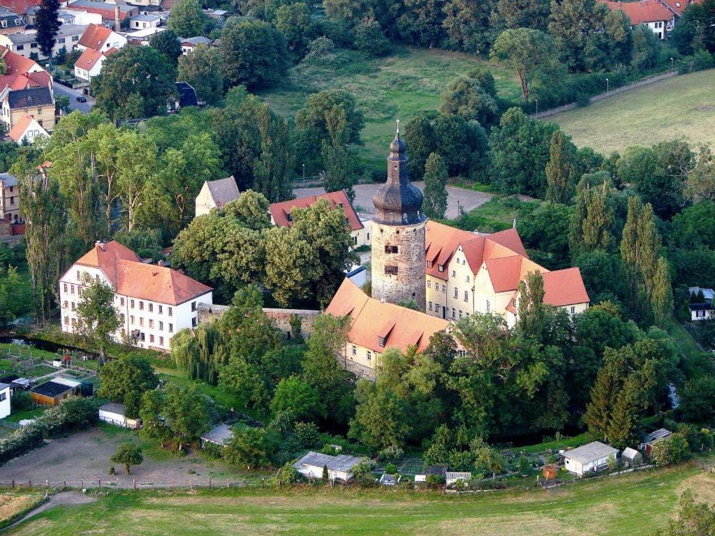 Wasserburg zu Gommern с высоты птичьего полета