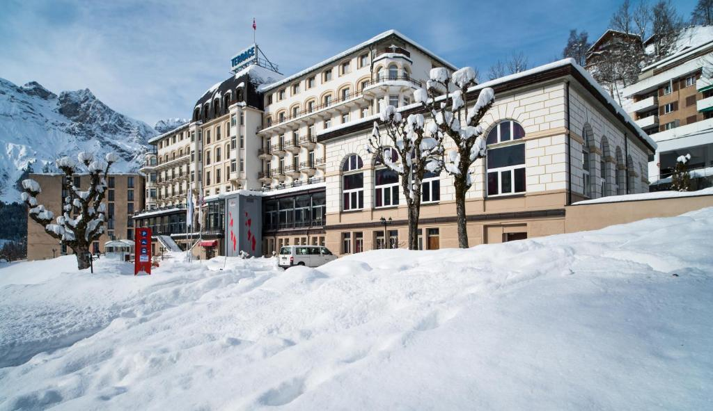 Hotel Terrace during the winter