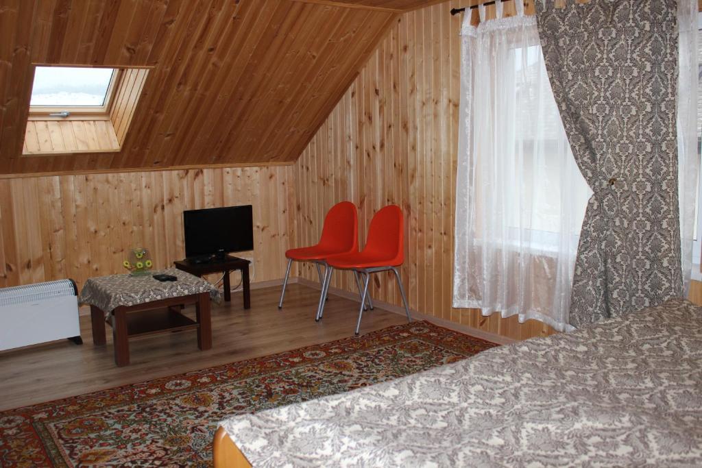 A seating area at Zolotye Peski