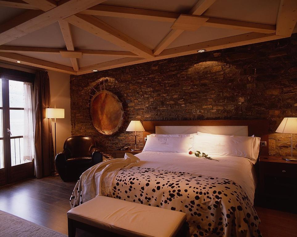 Cama o camas de una habitación en Los Siete Reyes