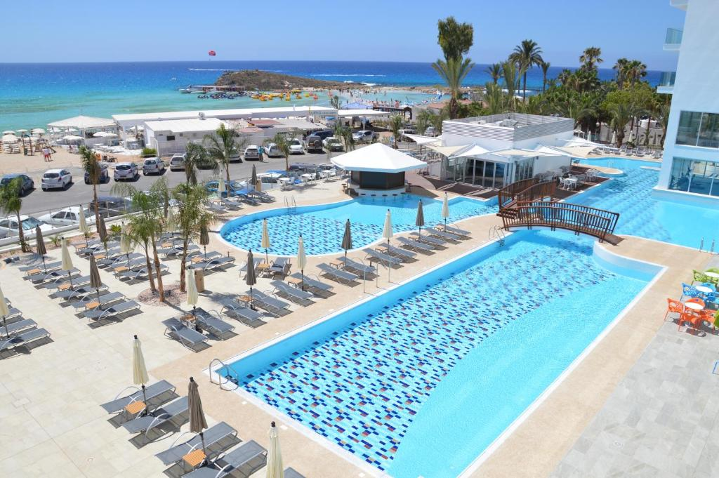 A view of the pool at Vassos Nissi Plage Hotel or nearby