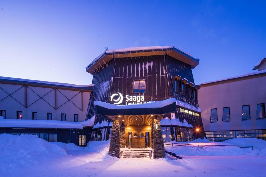 Lapland Hotels Saaga during the winter