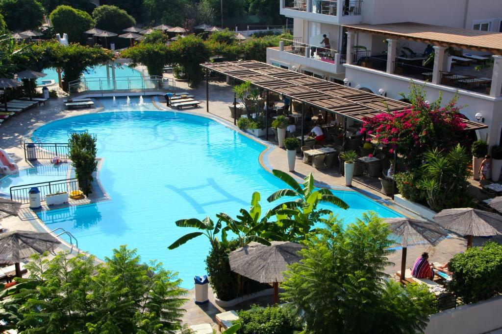 A view of the pool at Peridis Family Resort or nearby