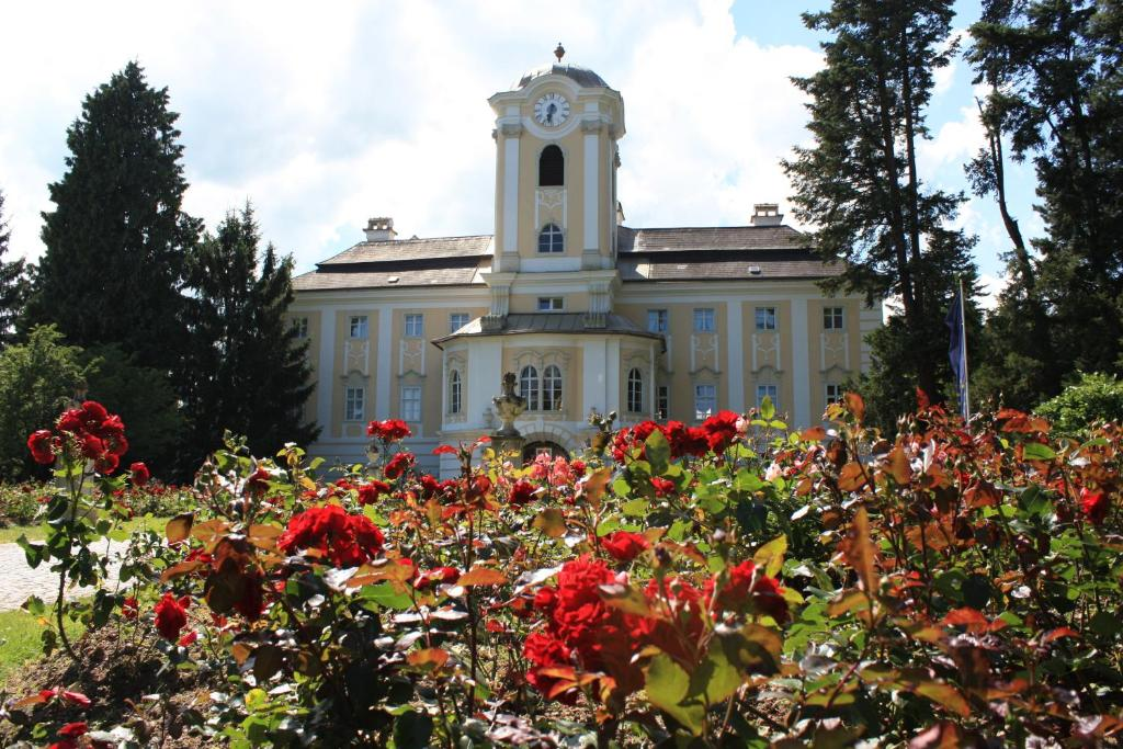Ein Garten an der Unterkunft Schlosshotel Rosenau Superior