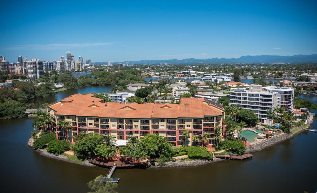 A bird's-eye view of Paradise Island Resort