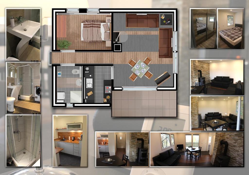 The floor plan of Ferienhaus Refugium