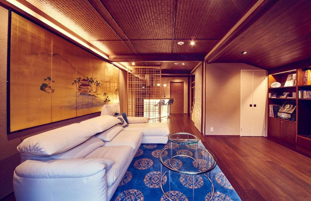Zona de estar de Hana-Touro Stay Yasakano-Tou Machiya Premium