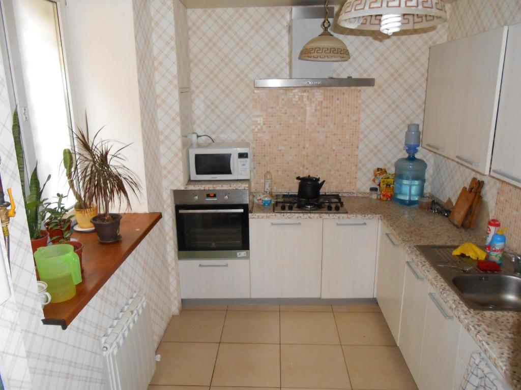 A kitchen or kitchenette at Guest House Aynur
