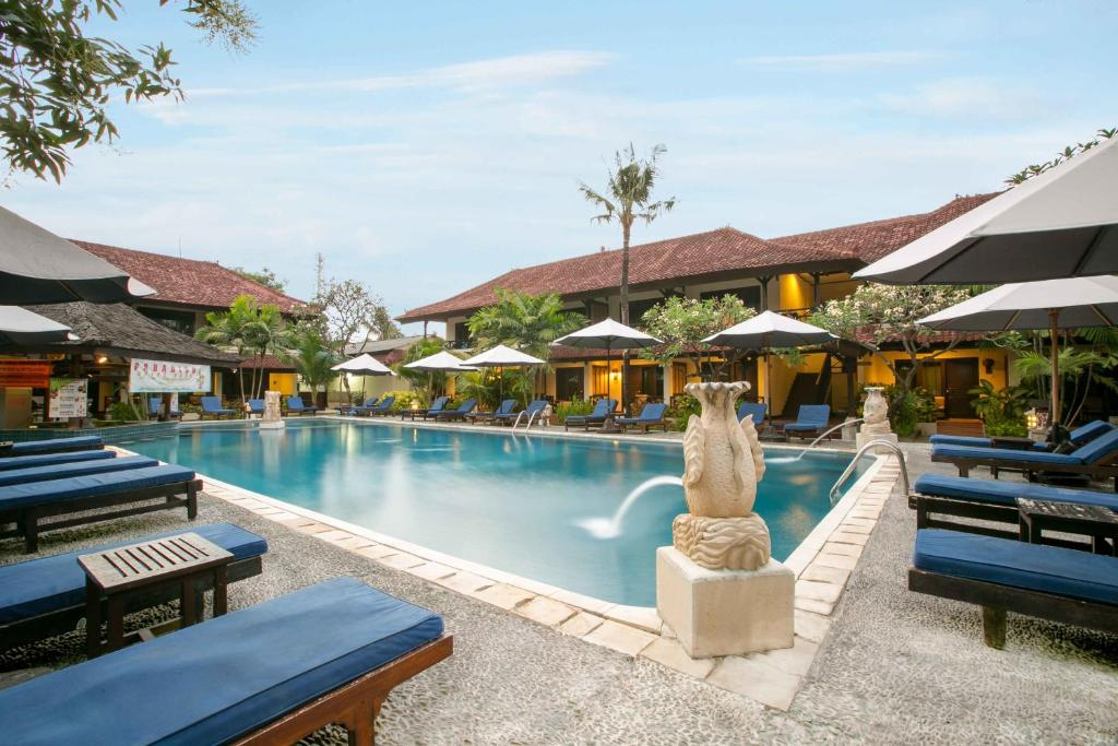 The swimming pool at or near Legian Paradiso Hotel