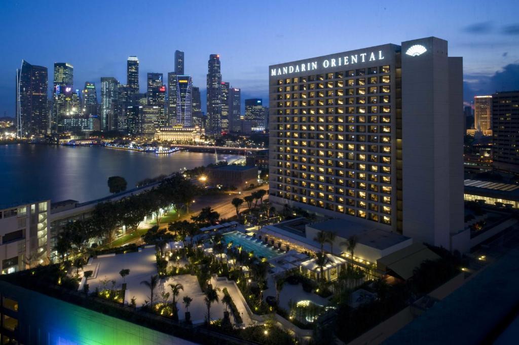Uma vista aérea de Mandarin Oriental, Singapore