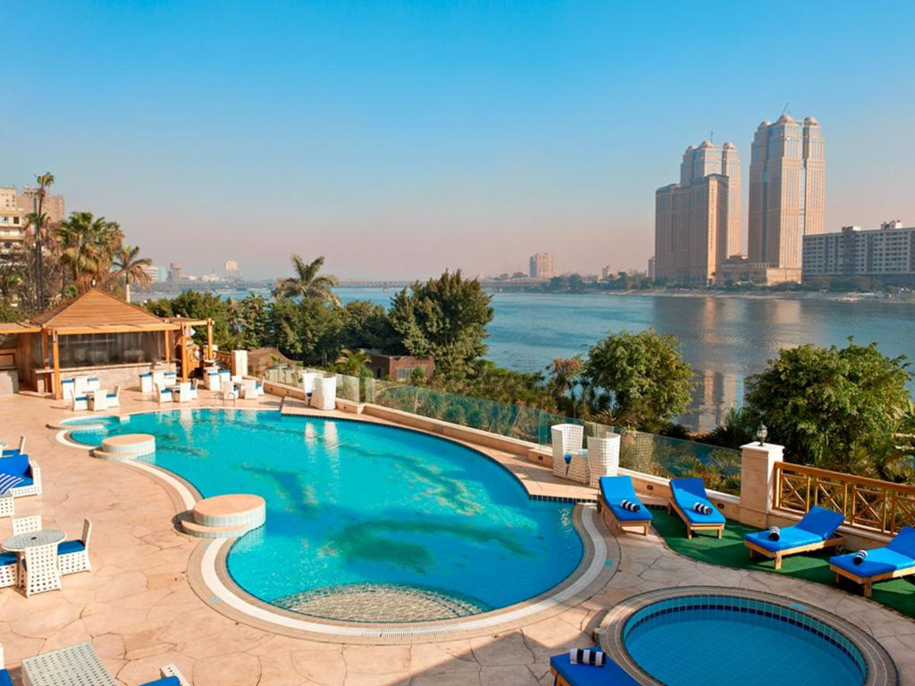A view of the pool at Hilton Cairo Zamalek Residences or nearby
