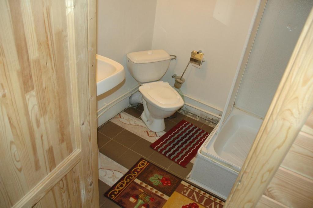 A bathroom at Lesnaya Baza Shishki