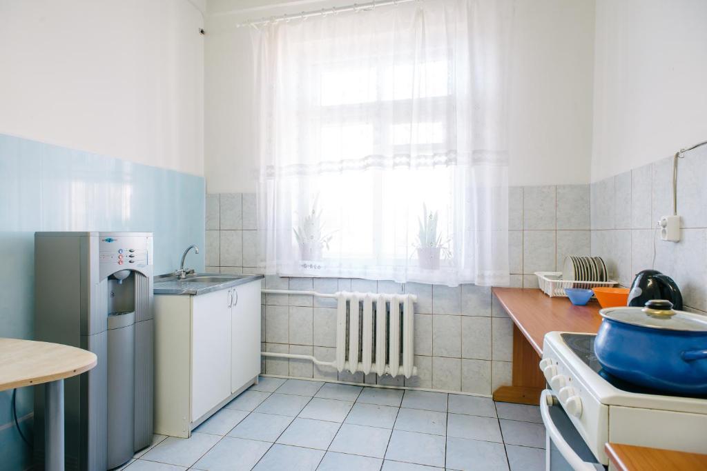 A kitchen or kitchenette at Zvezda Hostel